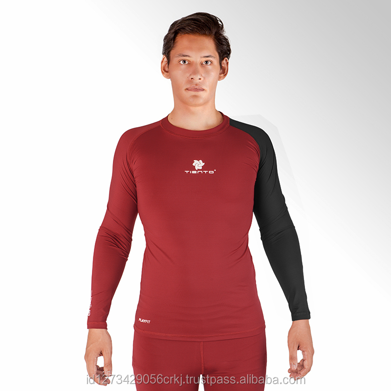Tiento Baselayer Long Sleeve Black White