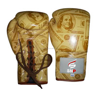Customized Logo Cowhide Leather Professional Boxing Gloves