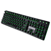 Dragon War custom logo Green LED Outemu blue mechanical switches USB wired gaming mechanical keyboard