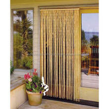 Natural color decorative bamboo door curtains/ beaded door curtains