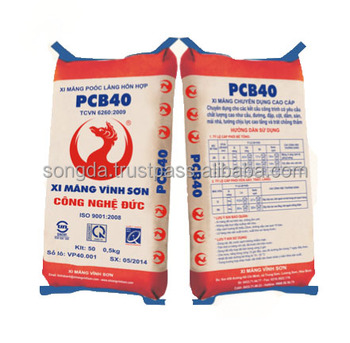 Two layer kraft paper pp woven fabric cement bag