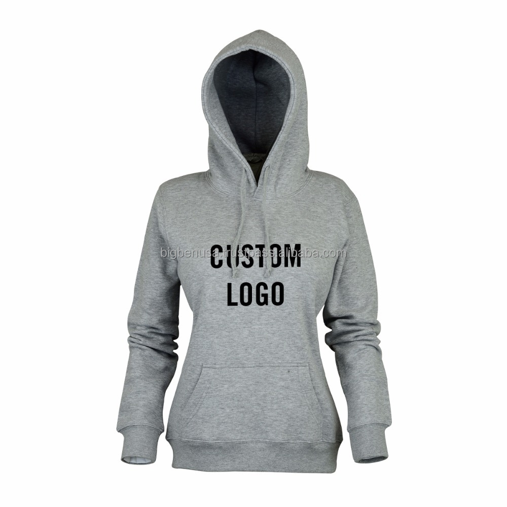 Wholesale Women Customized Pullover Sweater Shirt / Sports Hoodie