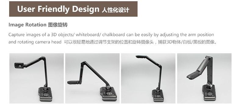 En gros usine meilleur 5 Mega Pixels classe document caméra avec USB VGA HDMI Sortie