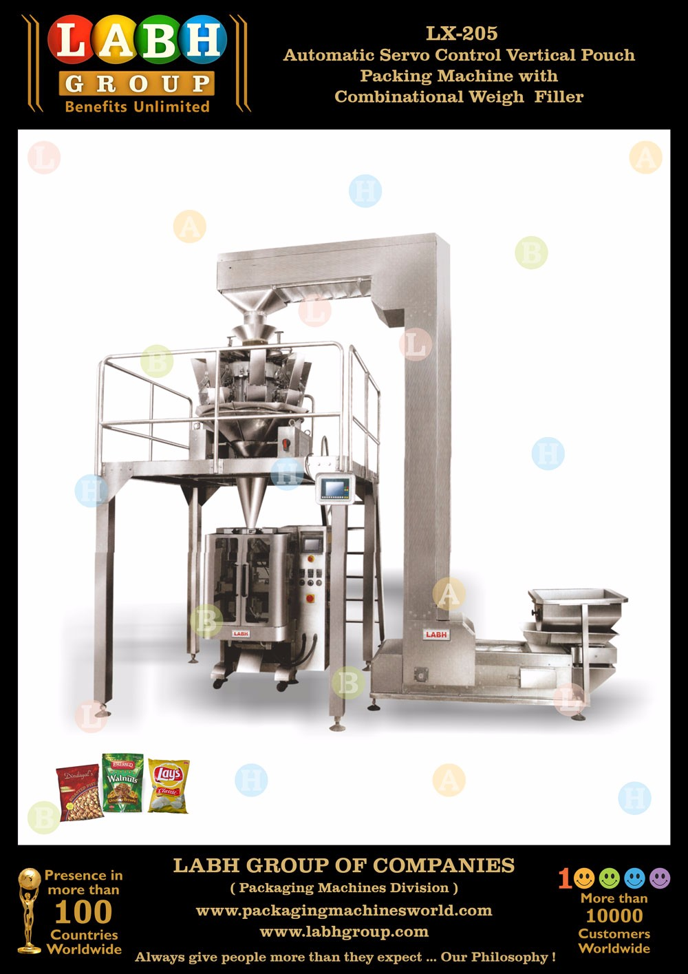Automatic Pouch Packaging Machine with Combination Multi head Weigher Ee102