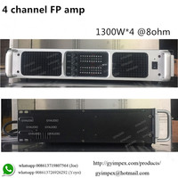 digital amplifier for line array speaker,1300W Class TD switching power amplifier 4 channel
