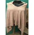 Knit Poncho in 100% Cashmere Wool