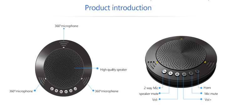 TEVO-A100B audio conferencing equipment bluetooth conference microphone for business video conference call