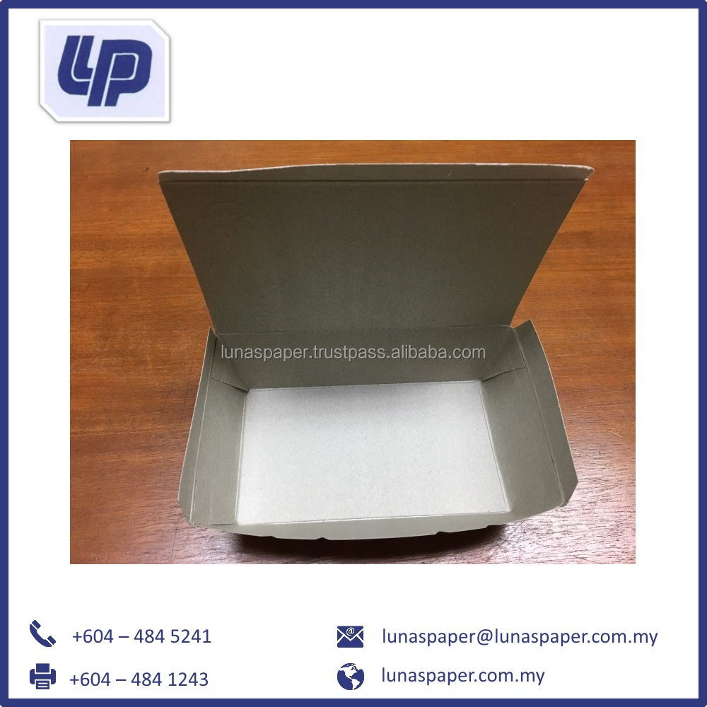 High Quality of Kraft Paper Lunch Box From Malaysia