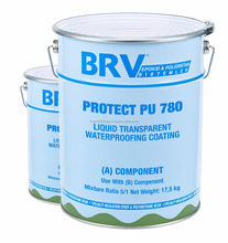 Flexible Aliphatic Polyurethane Transparent Liquid Waterproofing Coating Two Components UV Rays Resistant