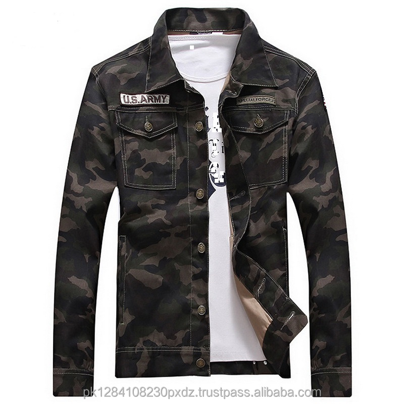 Cotton Camouflage Jacket Men Women Spring US Army Camo Coat Male Military Style OuterWear Slim Casual Jean Jacket