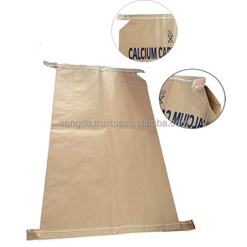 2 layer valve polypropylene woven kraft paper big empty cement bag