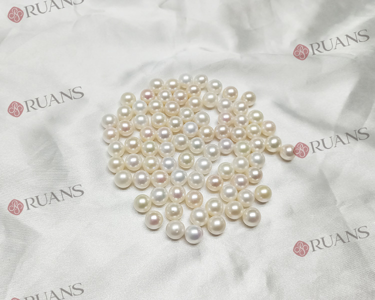 China 9.5 mm A grade white clean round shape loose pearl for earring and pendant