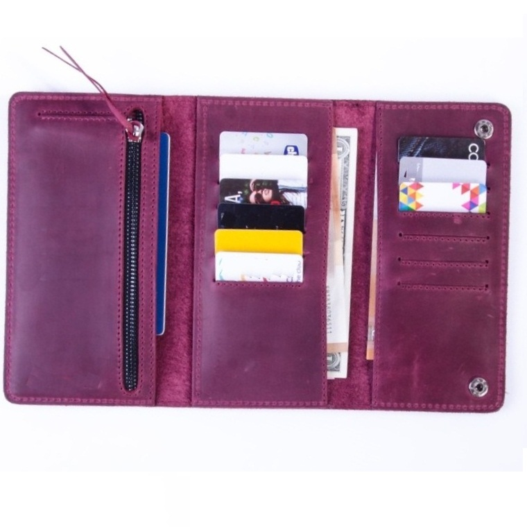 Travel Wallet With RFID Blocking Credit Card Holder Document Organizer