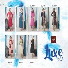 Luxe linen Flex Printed Full-Stitched Kurti Kurta For Indian Girls And Women