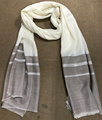 Natural Light Cashmere Scarf with lurex lines