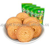 Durian sandwich cookie . Yummy durian flavoured cookie from Thailand .