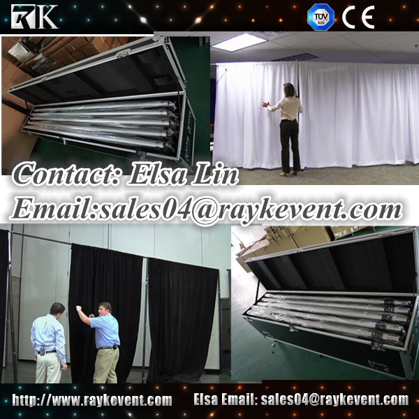 China wholesale pipe and drape kits with road caseevents and wedding decoration used pipe and drape for sale
