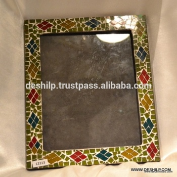 GLASS DECORATED PHOTO FRAME