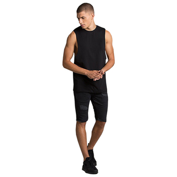 TS-300209 Black 100% Cotton Jersey T-Shirts and Shorts Twinsets