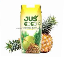 Coconut water with pineapple flavour in prisma pack