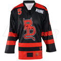 Custom Sublimated Black Ice Hockey Jersey
