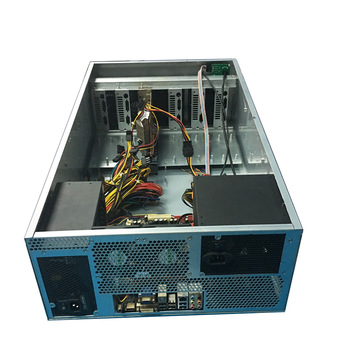 stylish designed 4u SGCC 1.2mm rack mount pc case 12 gpu rackmount computer case for bitcoin miner