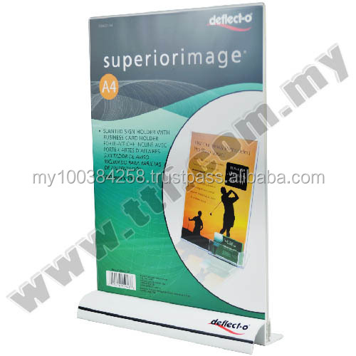 Sign Holder with Extrusion Base (A4 Portrait), Acrylic Display, Acrylic Display Stand, Exhibition Stand, Display Rack,Stand
