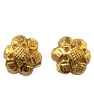 ETROFL005 ETROFLOWER 004 22 kt Gold Earrings studs Contemporary Party Wear Light weight Collection
