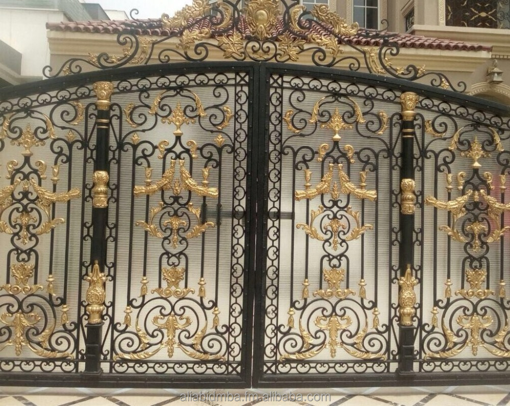 Hand Made Luxury Wrought Iron Main Gate