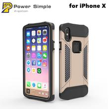Full Body Protective Shockproof PC+TPU Armor Case for iPhone X