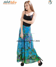 Whlolesale Indian Handmade skirts Women Maxi long Cotton designer long skirts
