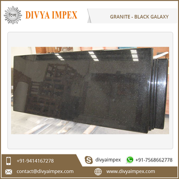 Natural Polished Black Star Galaxy Granite from India