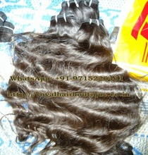 water wave Good Quality 100% Double weft machine unprocessed remy Indian hair 100% Alibaba Wholesale Indian Virgin Hair