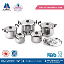 New Dutch Oven 5 PC Set With Cover