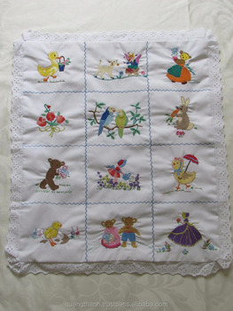 embroidery baby quilt