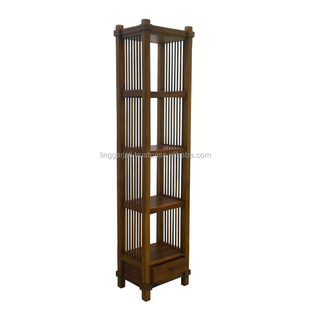 Wholesale Antique Long Wood Bookcase Living Room Furniture