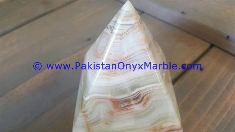 MANUFACTURER AND EXPORTERS ONYX PYRAMIDS LIGHT GREEN