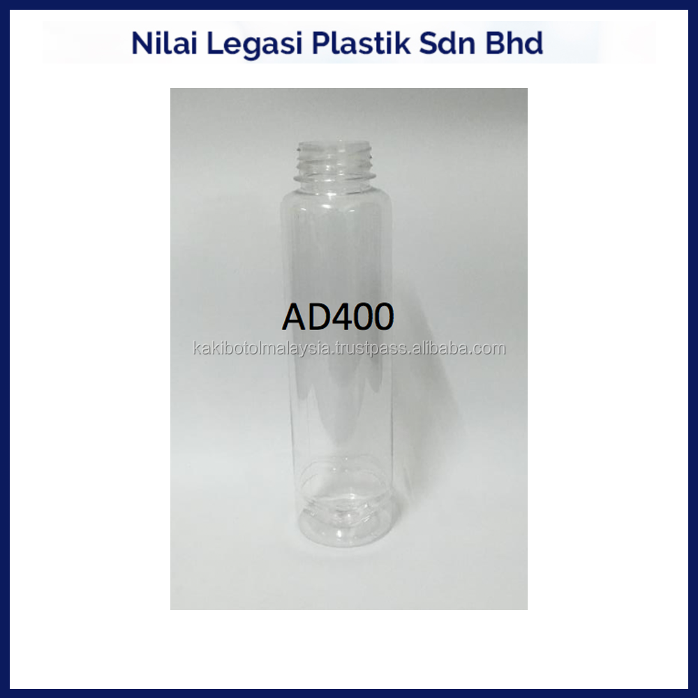 AD400 Pet plastic bottle for container 400 ml