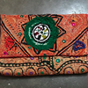 VINTAGE CLUTCH BANJARA EMBROIDERY ETHNIC PATCHWORK HANDMADE MIRROR TRIBAL BAG