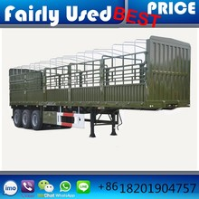 6.5 ton 12400*2500*3650mm brand new 3 alxe cheap light fence semi trailer