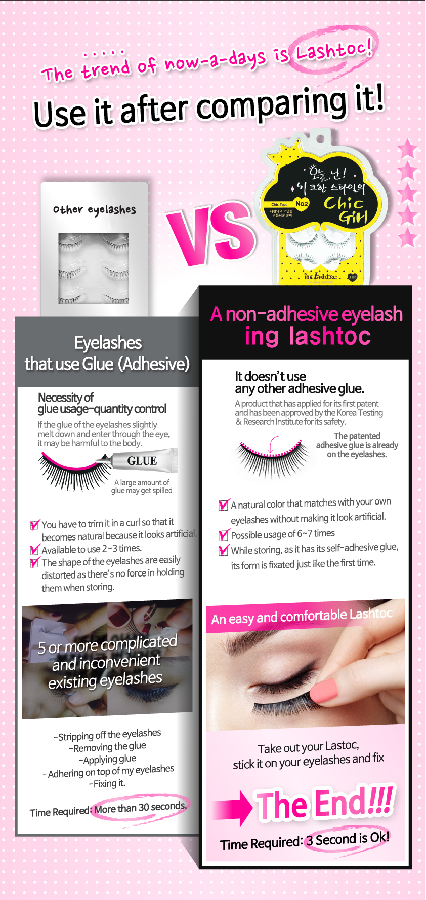 Lashtoc No Glue False Eyelashes