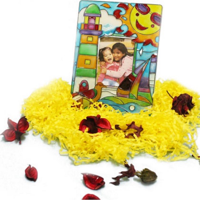 Suncatcher Photoframe DIY Paint Decorate Gift Activity for Kids