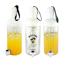 Big Infusion Jar for Malibu rum plastic drink bucket