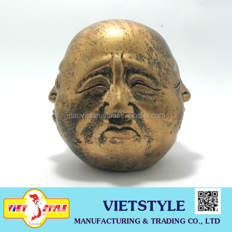 Feng shui polyresin Buddha 4 face statue 70mm height for home decoration