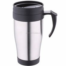 Stainless steel double wall insulated thermal mug 400 ml
