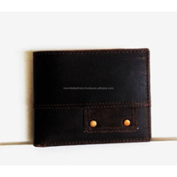 Distressed crazy horse Leather Wallet