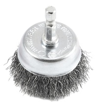 Wire Cup Brush, Coarse Crimped with 1/4-Inch Hex Shank, 2-Inch-by-.012-Inch