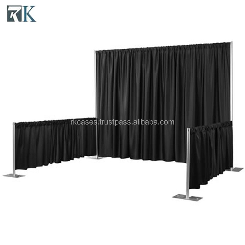 wedding venue stand pipe and drape Trade shows booth