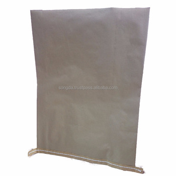 Custom black laminated pp woven kraft paper bag
