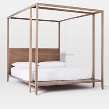 Solid Wood Canopy Double Bed